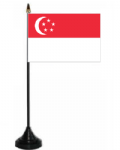 Singapore Desk / Table Flag with plastic stand and base.